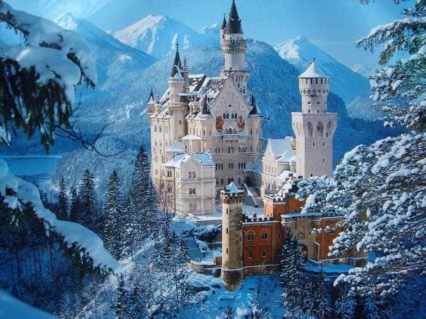 Один из красивейших замков Германии — Нойшванштайн.