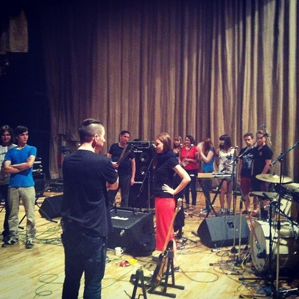 Репетиция с хором, 17/08/2013