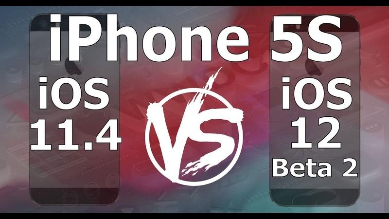 Speed Test iPhone 5S - iOS 12 Beta 2 vs iOS 11.4 (iOS 12 Beta 2 Build 16A5308e)