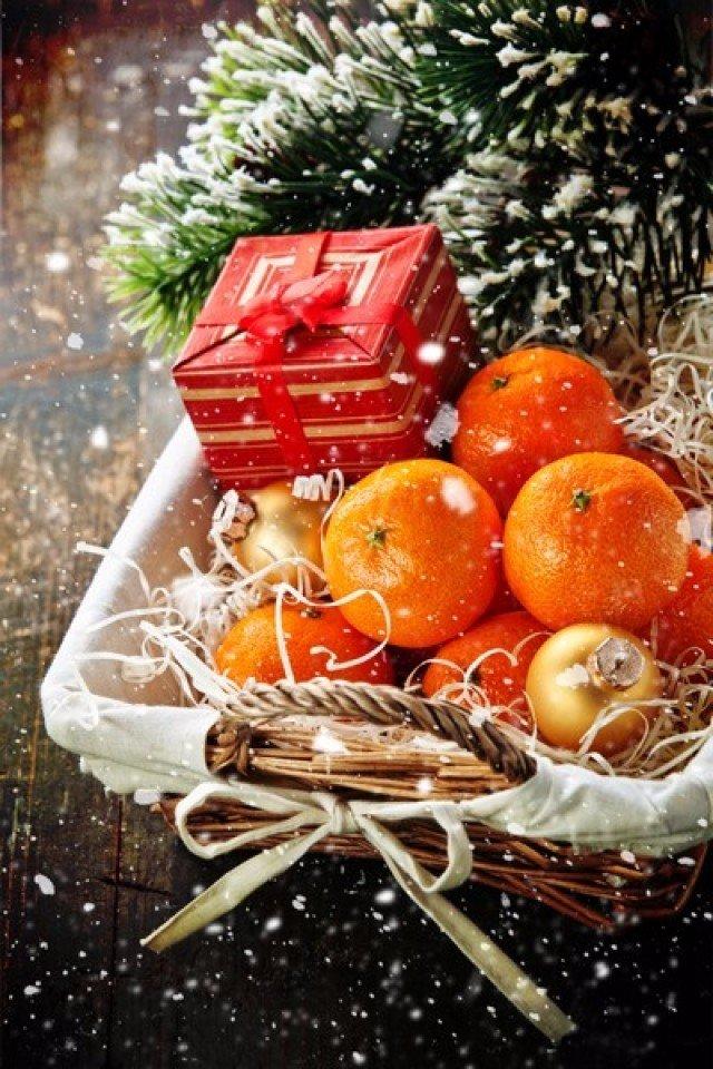 Новорінчний подарунок мандарини