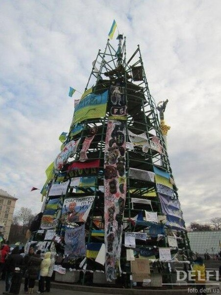 """""""Елку"""" с Евромайдана передадут в музей - Цензор.НЕТ 3772"""