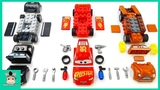 Learn colors with Disney Cars 3 toys Mcqueen and Mack truck race through sand tunnels MariAndToys