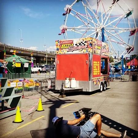 "Jennifer Clarke on Instagram: ""Carnival games, snow cones, front flips......We have just a little bit of fun 🤡 🍧 🤸♀️ 🤖supergirl"""