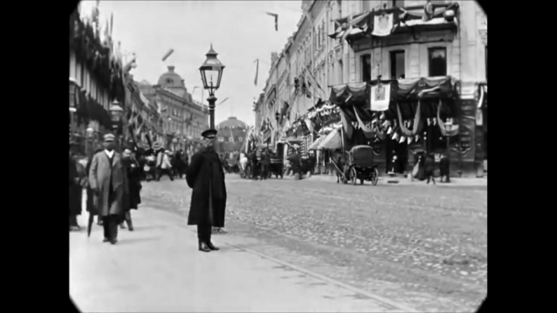May 1896 - Tverskaya Street in Moscow, Russia (speed corrected w_ added sound)
