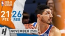 Enes Kanter Full Highlights Knicks vs Grizzlies 2018 11 25 21 Pts 3 Ast 26 Rebounds