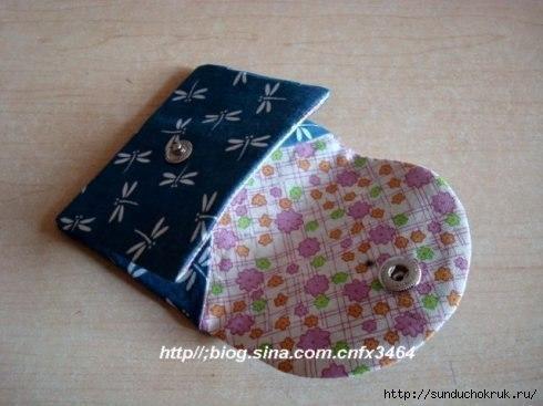 Шьем лоскутный кошелек (9 фото) - картинка