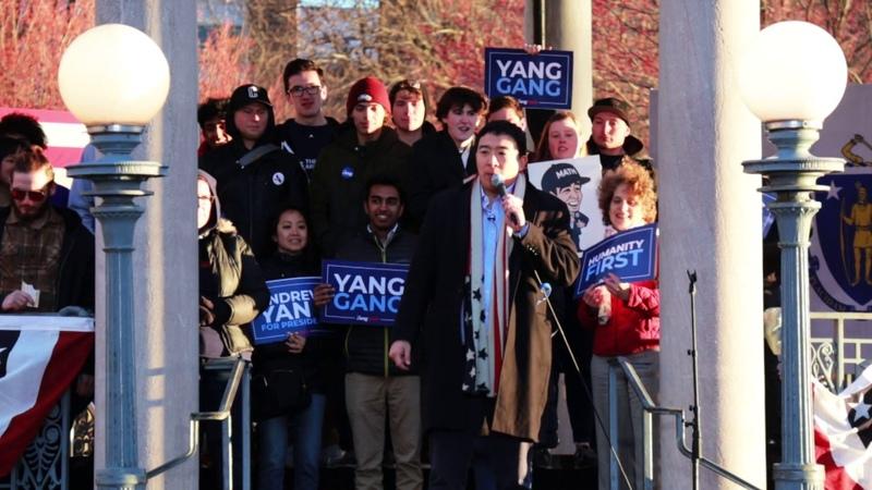 Andrew Yang's Boston Rally Speech raw footage April 10th 2019 Yang2020