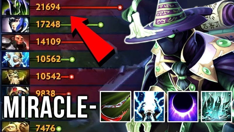 Miracle- Rubick ULT Stealing GOD - BEST SOLO MID RUBICK - Hard Practice for TI8 - Gameplay Dota 2