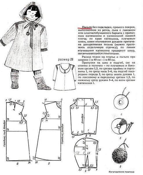 Пальто с капюшоном своими руками и выкройки