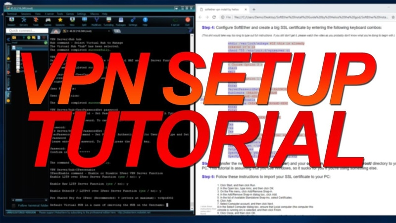 VPN Setup Tutorial - SoftEther OpenVPN [Run your own VPN with an Open NAT type]