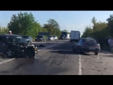 Дтп с участием трёх авто, московская трасса, перекресток Широкое Новоандреевка