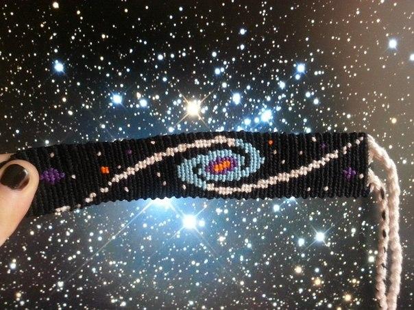 Схемы фенечек с космосом