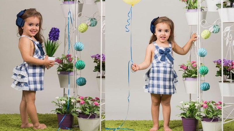 Peto con falda. REVISTA PATRONES INFANTILES Nº 6