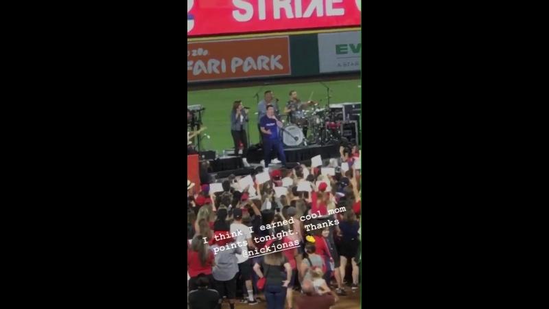 Nick Jonas performing Close at Angel Stadium of Anaheim in Anaheim, CA | September 15th