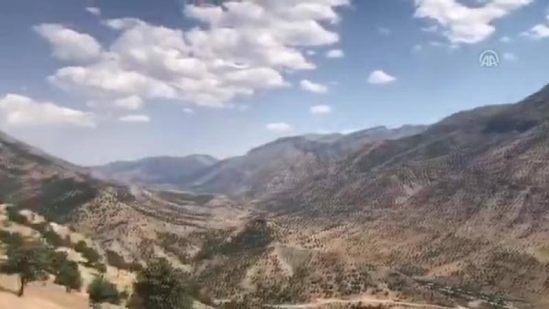 AA, Kuzey Irak'taki Kandil Dağı'nı görüntüledi