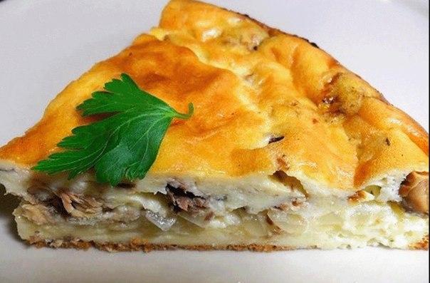 Наливной пирог с рыбой на кефире рецепт 99