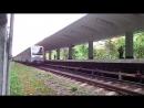 Русич (81-740.1/741.1) на станции Измайловская, АПЛ, 2 путь прибытие и отправление. Необычный ракурс.