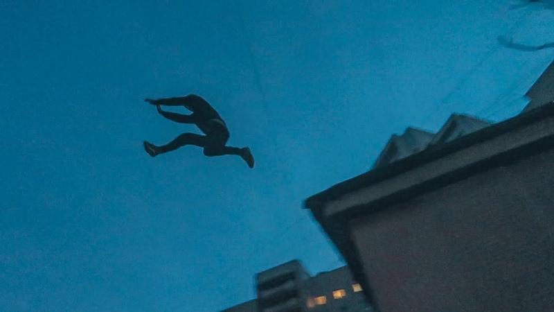Паркур челленж 1 Дикий прыжок с крышы на крышу