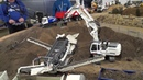 RC Terex Finlay 883 is loading by RC Excavator 944 with offset boom @ Stonebreaker Area