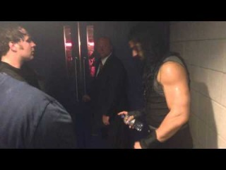WWE The Shield Backstage on Raw (O2 Arena London)