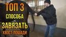 ТОП 3 СПОСОБА как завязать хвост лошади или коня УЗЛЫ конский хвост Советы про лошадей Коневодство