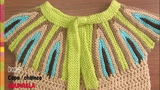 Capa chaleco Acuarela tejida crochet Tejiendo Peru