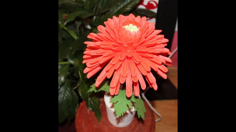 Хризантема из изолона Мастер класс