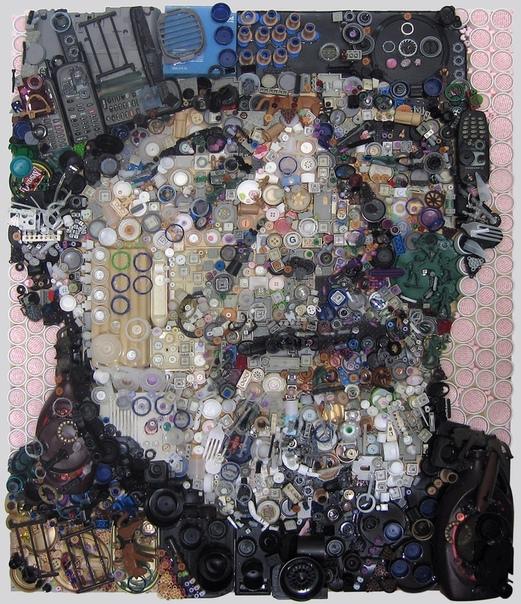 Картины из хлама: как ужасное превращается в прекрасное. Портреты американского художника Зака Фримана поражают своей реалистичностью и глубиной. Они настолько хорошо проработаны с