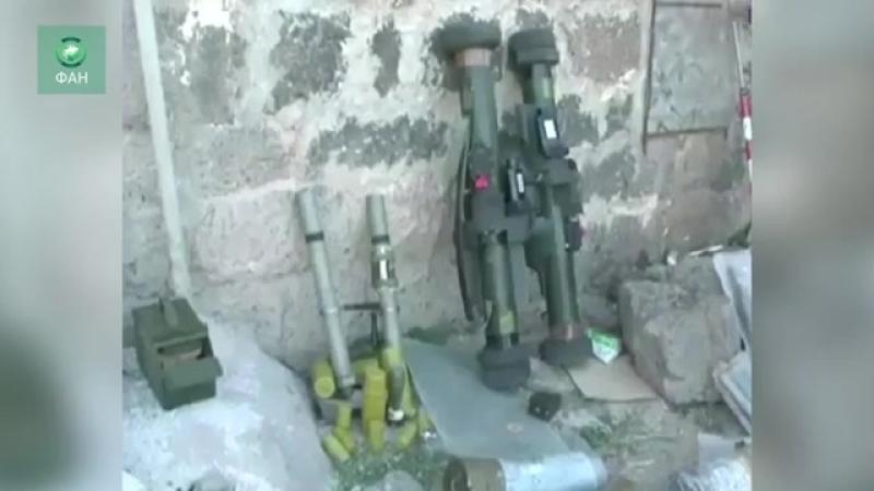 Сирия:Оставленное вооружение террористов в Дараа