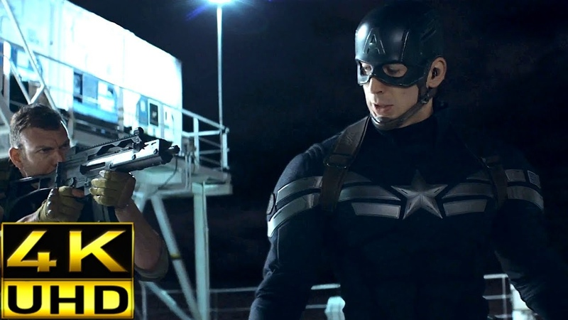 Lemurian Star Fight Scene - Captain America: The Winter Soldier [4K Ultra HD]