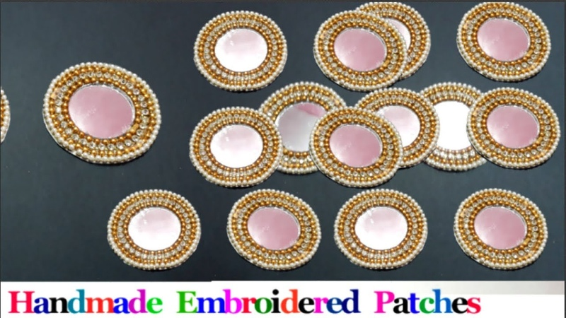 How to Make Designer embroidered Patch work at Home DIY Designer Saree Blouse Patch Making part 3