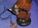 Серьги,браслеты связаны из медной проволоки крючком.