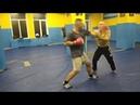 В. Н. Крючков. Защита от ударов рукой-ногой сбивами и встречным боковым правой(предплечьем )