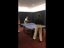 Harry playing ping pong backstage - June 7