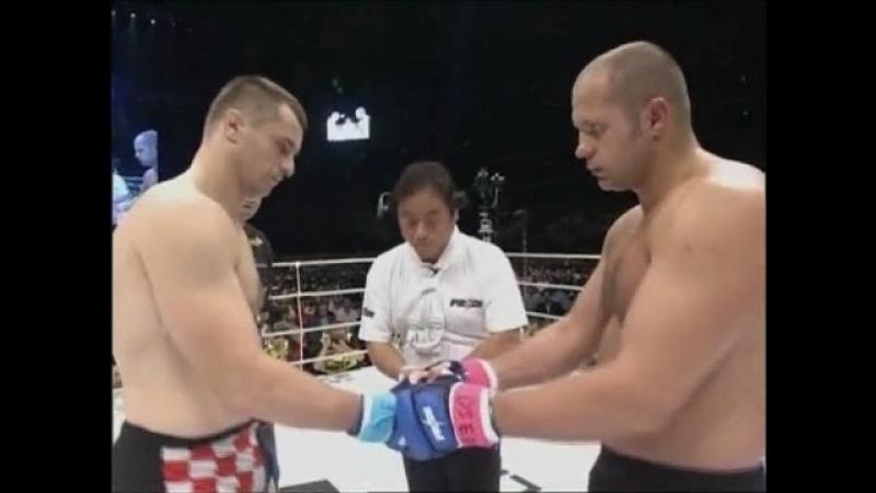 Федор Емельяненко vs Мирко Крокоп видеокамера рефери