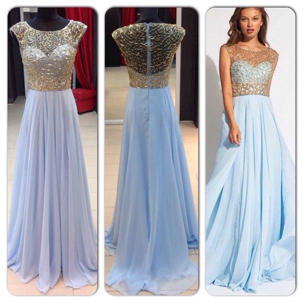 Небесный цвет платья фото