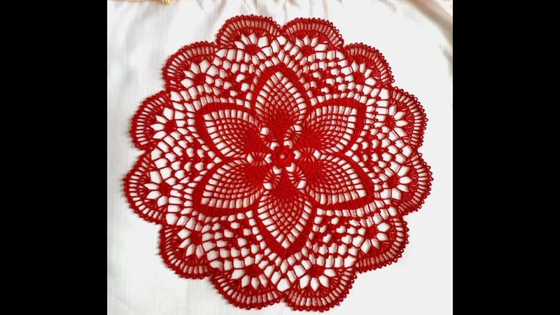 Салфетка крючком Весенняя Часть 1 Doily crochet Spring