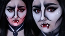 POP ART VAMPIRE EASY Halloween Costume Makeup Tutorial RawBeautyKristi