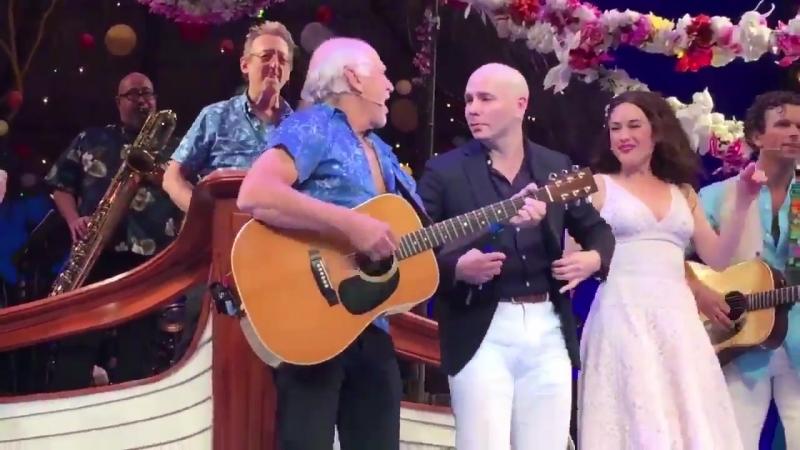 NEW Pitbull and Jimmy Buffett onstage at EscapeToMargaritaville on Broadway tonight! 6.15.18 [PART 2]