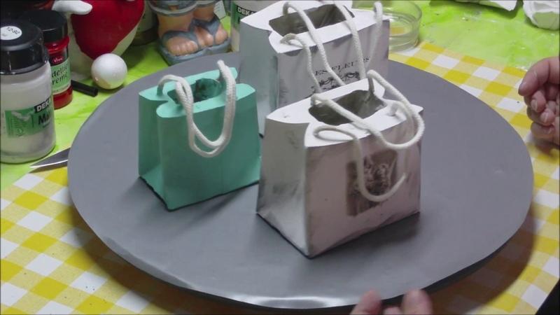 Beton Tasche als Deko - im Vintage Style - ganz einfach gemacht