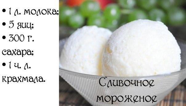 Мороженое в домашних условиях рецепт со сливками и