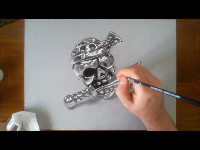 Как нарисовать череп пирата - Marcello Barenghi