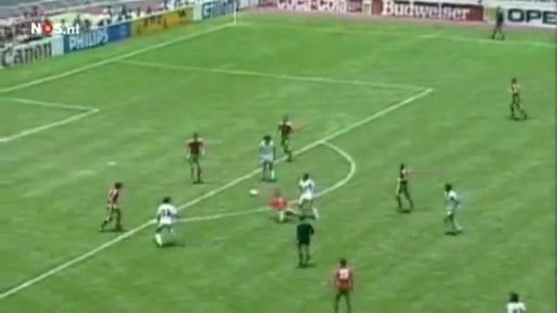 Manuel Negrete Mexico vs Bulgaria 1-0 1_8 Finals World Cup 1986 Dutch commentary