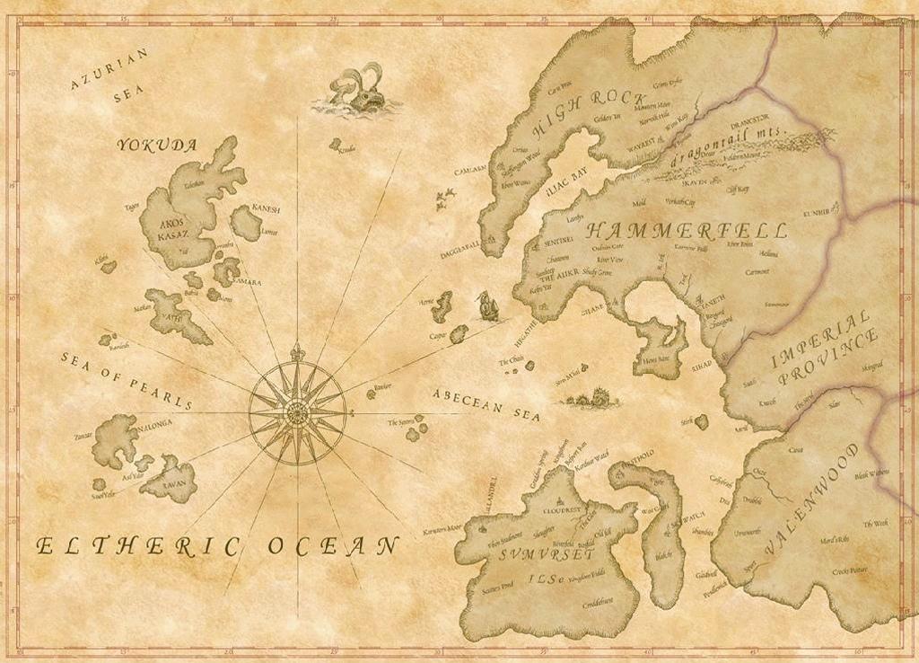 Карта мира The Elder Scrolls 6 - Больше, чем Тамриэль!