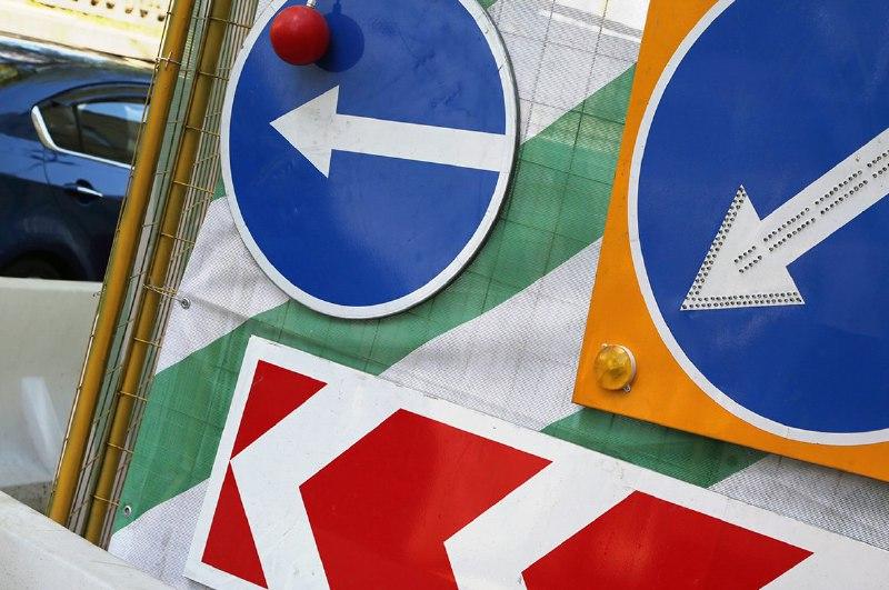 Съезд с Бутырской на Нижнюю Масловку временно закрыли в связи со строительством метро