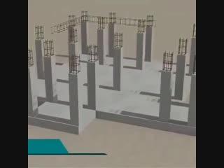 3D проект строительства здания на Западе.