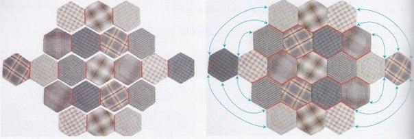 Сумка с фермуаром, украшенная цветами в технике оригами из ткани.