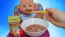 Куклы Пупсики Беби Бон Рома кушает хрустики Маша и Медведь. Открываем 2 сюрприза Киндер. Зырики ТВ