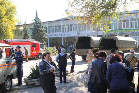 Взрыв в колледже в Керчи