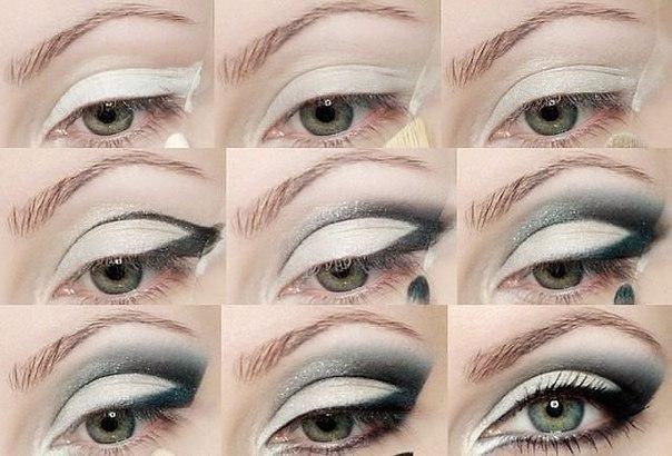 Выразительный макияж серых глаз